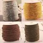 5M Mixed Color Cable Silver Gold Bronze Copper Plated Metal Chain 07x3x2mm