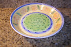 CALECA HAND MADE LARGE SERVING - PASTA BOWL MADE IN  ITALY YELLOW BLUE & GREEN