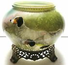 SCARCE HUNTING DOG PICTURE CA 1900 OIL LAMP BASE MILK GLASS GONE WITH THE WIND