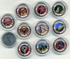 Mexico 1 peso Empire of the Maya colored set 10 coins in a box