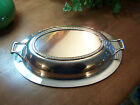 Silverplate Silver ROSE Casserole Lid Cover Dish Tray Plate Handles11