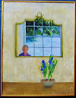 GILL SERGEANT - THE FLOWERS - ORIGINAL BRITISH PAINTING - 1988 - NO RESERVE !!