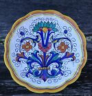 Deruta Italy - Hanging Wall Plate Hand Painted Excellent Condition 8