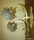 PAIR OF BEAUTIFUL FRENCH ART NOUVEAU SCONCES 1910 - BRONZE AND BRASS