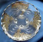 Art Deco Silver Overlay Round Footed Tray