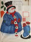 Daisy Kingdom Snowman Door / Wall Hanging Christmas Fabric Panel
