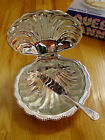 Queen Anne Silver Plated Tableware - Shell Butter Dish (Mayell) Made in England