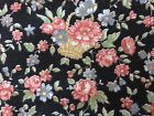 Joan Kessler for Concord tiny Floral on Black Cotton Fabric by the yard 43