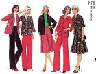 Vtg 70s UC STYLE Pattern 1629 Misses Shirt or Jacket Skirt Trousers Sz 10 B 32.5