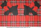 Patty Reed Scottie or Scotty Dog Red Christmas Plaid Fabric OOP 2 3/4 yards