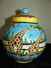 PENZO LARGE BLUE ROUNDED POT ABSOLUTELY STUNNING BRAND NEW PAIR OF GIRAFFES