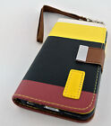 MULTITONE SOFT LEATHER CARD POUCH CASE COVER WITH STAND APPLE IPHONE 6 4.7 INCH