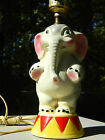 Art Pottery Lamp Circus Elephant American Bisque McCoy Shawnee USA Mark OLD