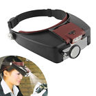 Quality Headband Headset 10× Magnifier Magnifying Glass Loupe with LED Light