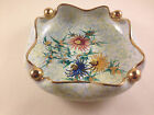 Vintage Green Italian Hand Made Porcelain Candy Dish Bowl Gold Color Gilding
