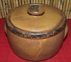 Vintage McCOY BEAN POT w/ LID Canyon Mesa BROWN Pottery 1421 Tureen Jar