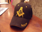 Masonic/Freemason HAT / CAP - Black w/Yellow Embroidery