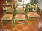 5 Great Vintage Original Painted Antique 1960 Boling Cane Dining Kitchen Chairs