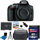 Nikon D5300 24MP CMOS Digital SLR Camera w Wi Fi +Extra Battery +8GB SD Top Kit