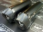 Honda CBF 1000 06 07 08-2010 Pair of Black Oval, Carbon Outlet Exhausts Cans