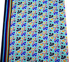 Sewing Blue Fabric Cotton Poplin Floral Print Pillow Curtain Drape India By 1 Yd