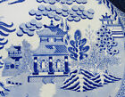 China Chinese  Turkey  serving platter   Blue & white Antique  Blue Willow  HUGE