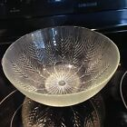 Vintage Crystal Large Frosted Wheat Design Serving Bowl 10 X 4 1/4 inchs EUC!