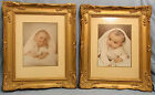 MATCHING PAIR VINTAGE WOOD GESSO FRAMES 18X15 ORNATE GOLD ATELIERS ARMAND DUTRY