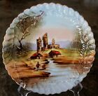 1900 - 1940 ANTIQUE PORCELAIN PLATE HAND PAINTED UNMARKED LIMOGES ?, VERY RARE