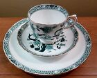 Vintage Tuscan turquoise and black ming tree pattern cup, saucer, lunch plate
