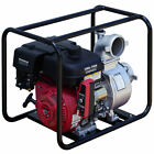 4 Gas Water Pump Semi Trash Pump 9 hp 4 inch inlet outlet NPT NEW Pool E Start