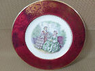 Imperial by Salem China Co. Plate w/Victorian Women 23k Gold Border