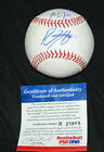 MIKE TROUT AND BRYCE HARPER DUAL SIGNED SNOW WHITE BALL PSA COA MLB AUTHENTIC