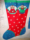 Christmas Cats Stocking Fabric Panel Patty Reed XMAS Kittens Mittens 2 available
