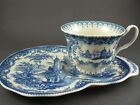 Vintage Blue Willow Cup and Saucer Sandwich Plate (W2-5)