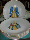 SIX Hohenberg Hutschenreuther Germany Christmas Plates Gold Ring Retired A++