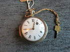 ANTIQUE LATE 19th CENTURY CONTINENTAL VERGE/ FUSEE POCKET WATCH for REPAIR