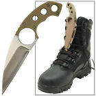 Bird Of Prey Talon Hunting Full Tang Tacticle Lace Finger Hole Boot Shoe Knife
