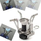 Ultralight Steel Backpacking Canister Camp Camping Stove Burner w Piezo Ignition