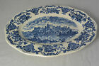 ENOCH WEDGWOOD Tunstall Ltd Large Oval Blue Plate Dish England Royal Home #2059