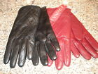 NEW WOMENS Merona QUILTED Leather Gloves Size S/M OR L/XL BLACK OR BURGUNDY