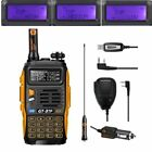 Baofeng GT-3 MarkIII 1/4/8Watt VHF/UHF Ham Two-way Radio + USB Cable