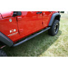 Rugged Ridge 3-in Round Tube Steps, Black 07-14 Jeep Wrangler Unlimited 11591.06