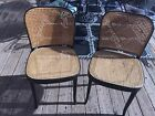 VINTAGE THONET STYLE By marchio di fabbrica CANE BENTWOOD 2 Chairs MADE IN ITALY
