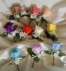 Rose Boutonniere Corsage your choice Groom Best man men Prom Wedding Quinceanera
