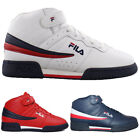 Mens Fila F13 F 13 Classic Mid High Top Basketball Shoes Sneakers NAVY RED