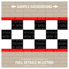 Wall Border Set Checker Flag FLAT Red 12 ft x 6 in Vinyl Decal Sticker