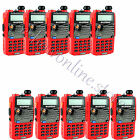 10x Red Baofeng UV-5RA Walkie Talkie 5W 128CH UHF+VHF DTMF VOX Two Way Radio