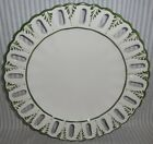 Vintage Vestal Hand Painted Portugal Decorative Green On White Pierced Plate {C3