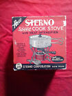 vinatge Sterno /speed cook stove/No 25/ with heat intensifier in box